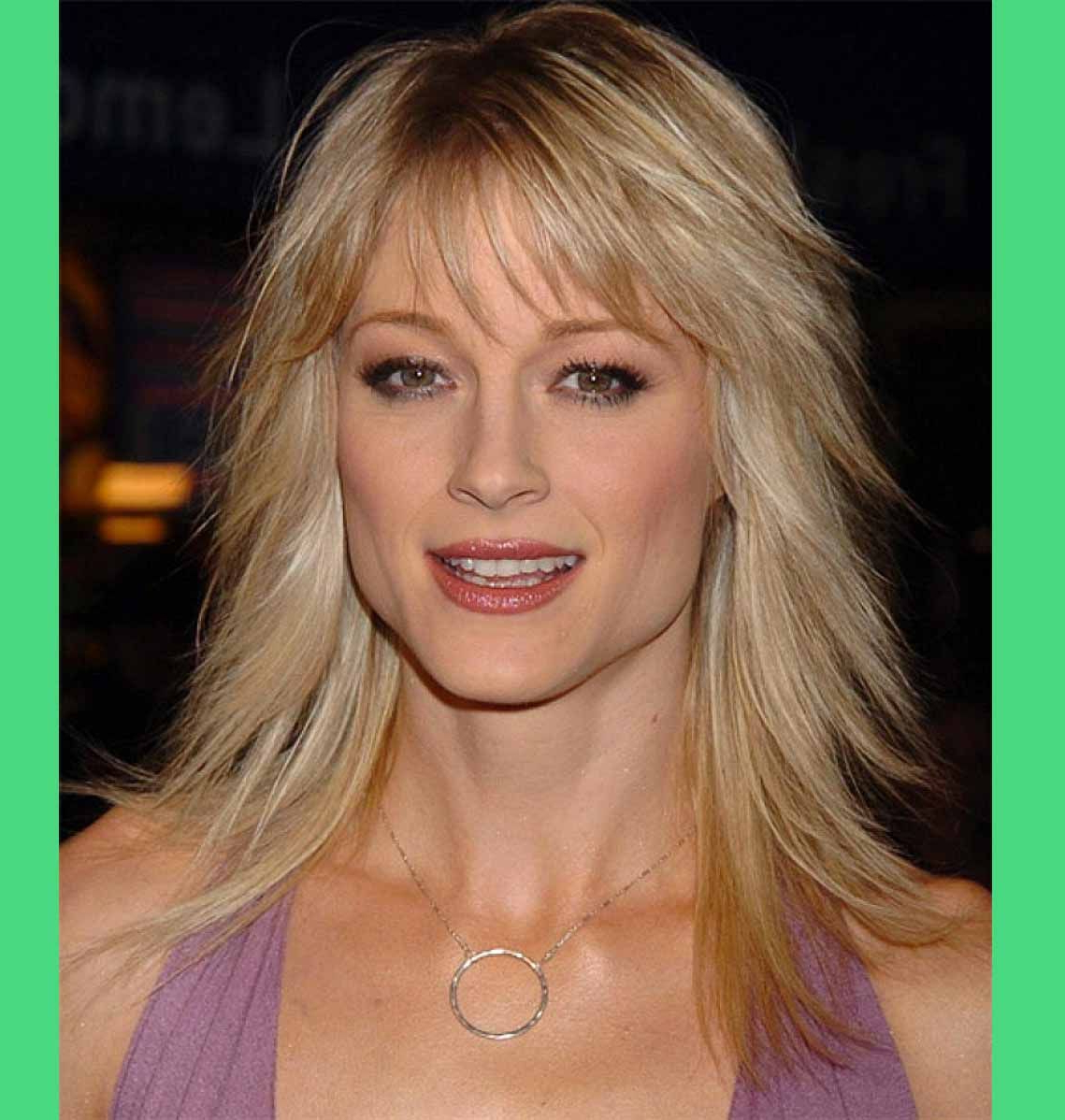 Medium Length Blonde Hairstyles For Thin Fine Hair With Side Bangs Regarding Latest Medium Hairstyles For Thin Hair (View 13 of 20)