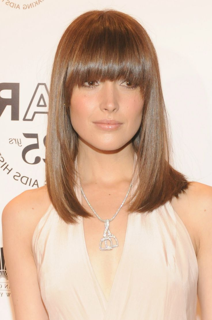 Medium Length Hairstyle With Blunt Bangs (View 8 of 20)