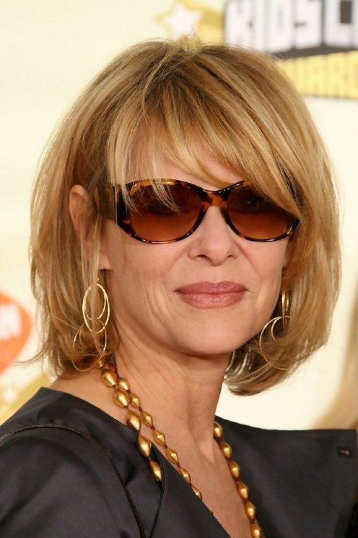 Medium Length Hairstyles For Over 50 With Glasses (View 6 of 20)