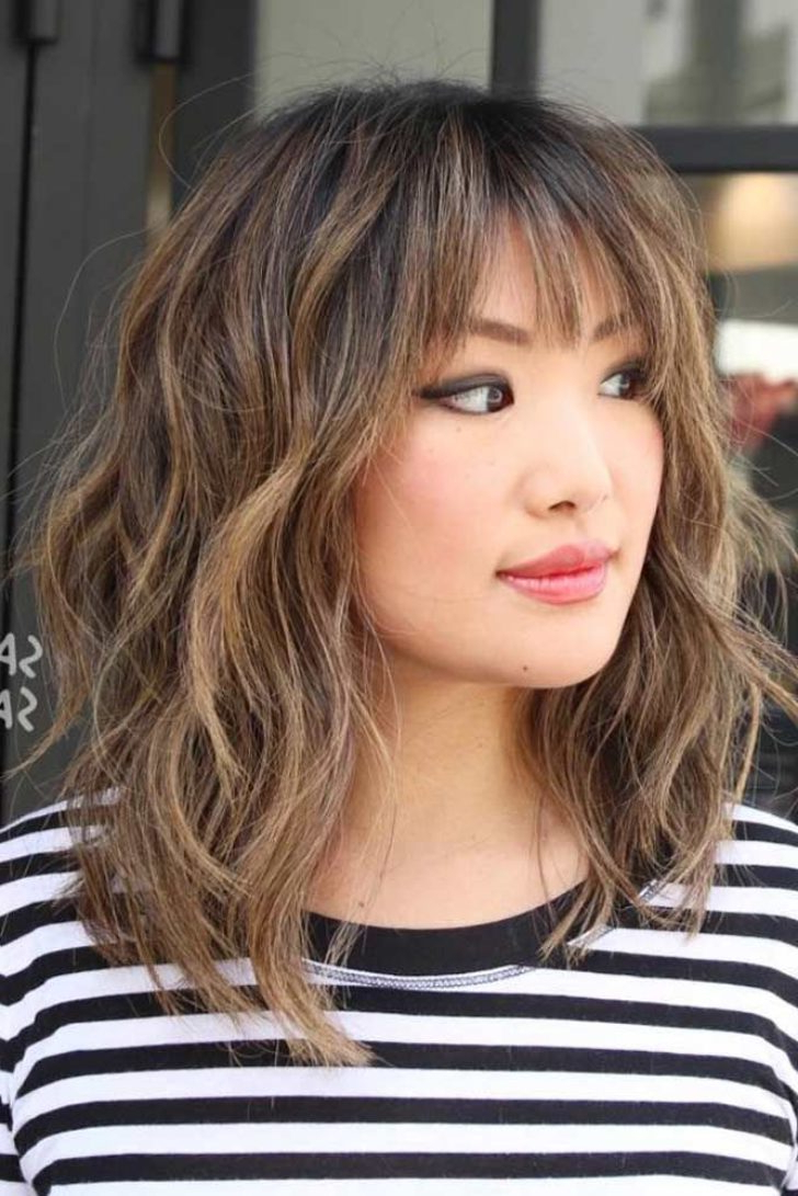 Medium Length Hairstyles With Bangs Thick Hair Archives – Securelog Within Newest Medium Hairstyles With Bangs For Fine Hair (View 12 of 20)