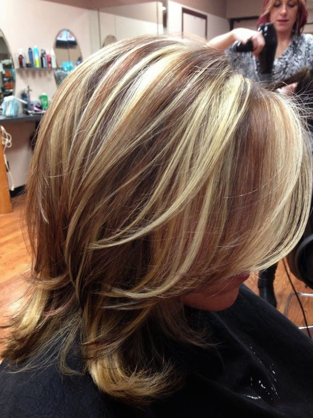 Medium Length Hairstyles With Blonde Highlights – Hairstyle For For Most Recent Medium Haircuts With Red Color (View 14 of 20)