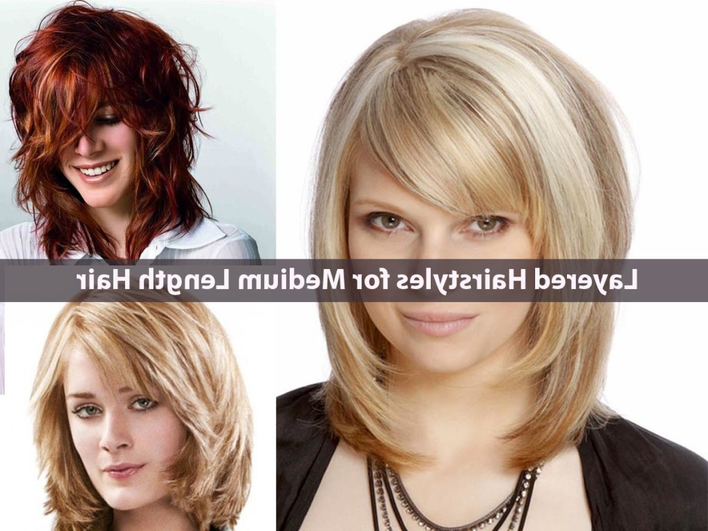 Medium Length Layered Hair With Side Bangs – Hairstyle For Women & Man With Newest Medium Hairstyles With Layers And Side Bangs (View 10 of 20)