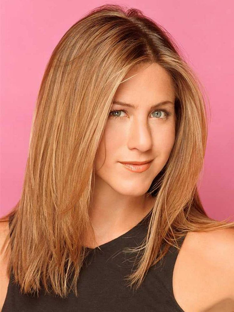 Medium Length Long Layered Haircuts Jennifer Aniston Medium Length With Latest Medium Haircuts For Straight Hair (View 14 of 20)