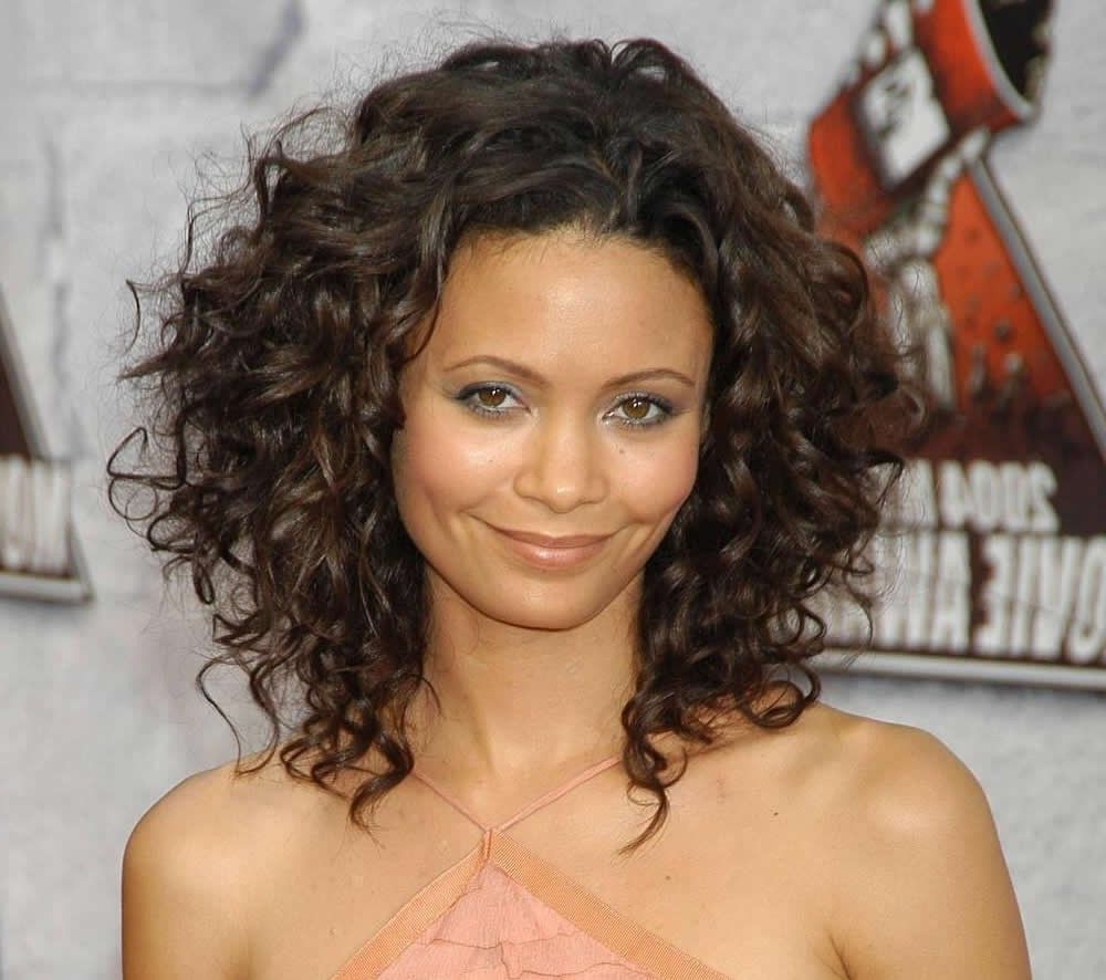 Medium Length Naturally Curly Hairstyles Hairstyle And Haircuts For Throughout Fashionable Naturally Curly Medium Hairstyles (View 6 of 20)