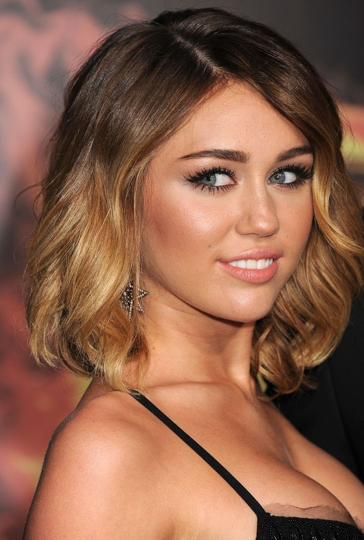 Medium Length Ombre Hair With Most Current Medium Haircuts Like Miley Cyrus (View 7 of 20)