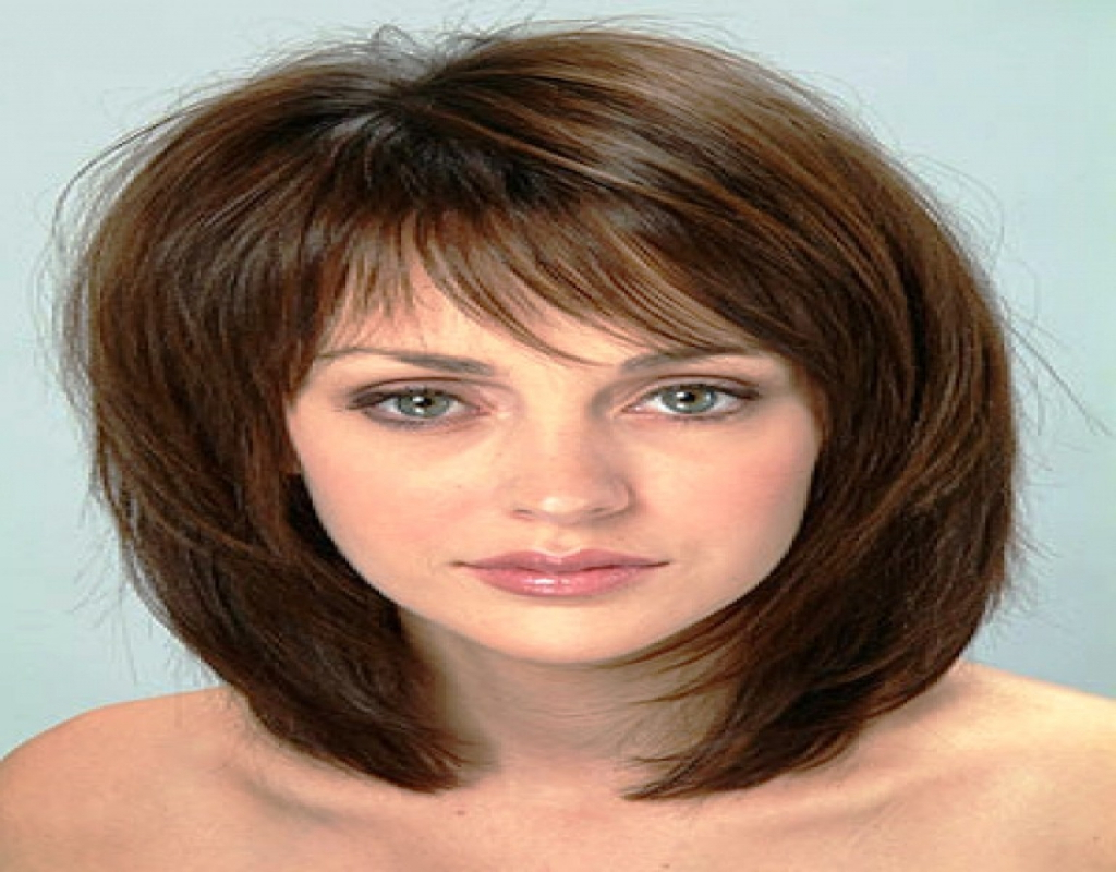 Medium Short Hairstyles Thick Hair – Hairstyle For Women & Man In Latest Medium Haircuts For Thick Hair With Bangs (View 15 of 20)