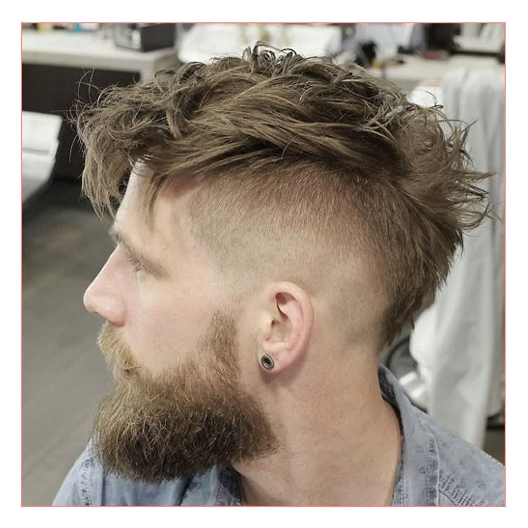 Men Hairstyles Short Sides Long Top Plus Undercut With Messy Faux Within Widely Used Short Haired Mohawk Hairstyles (View 9 of 20)