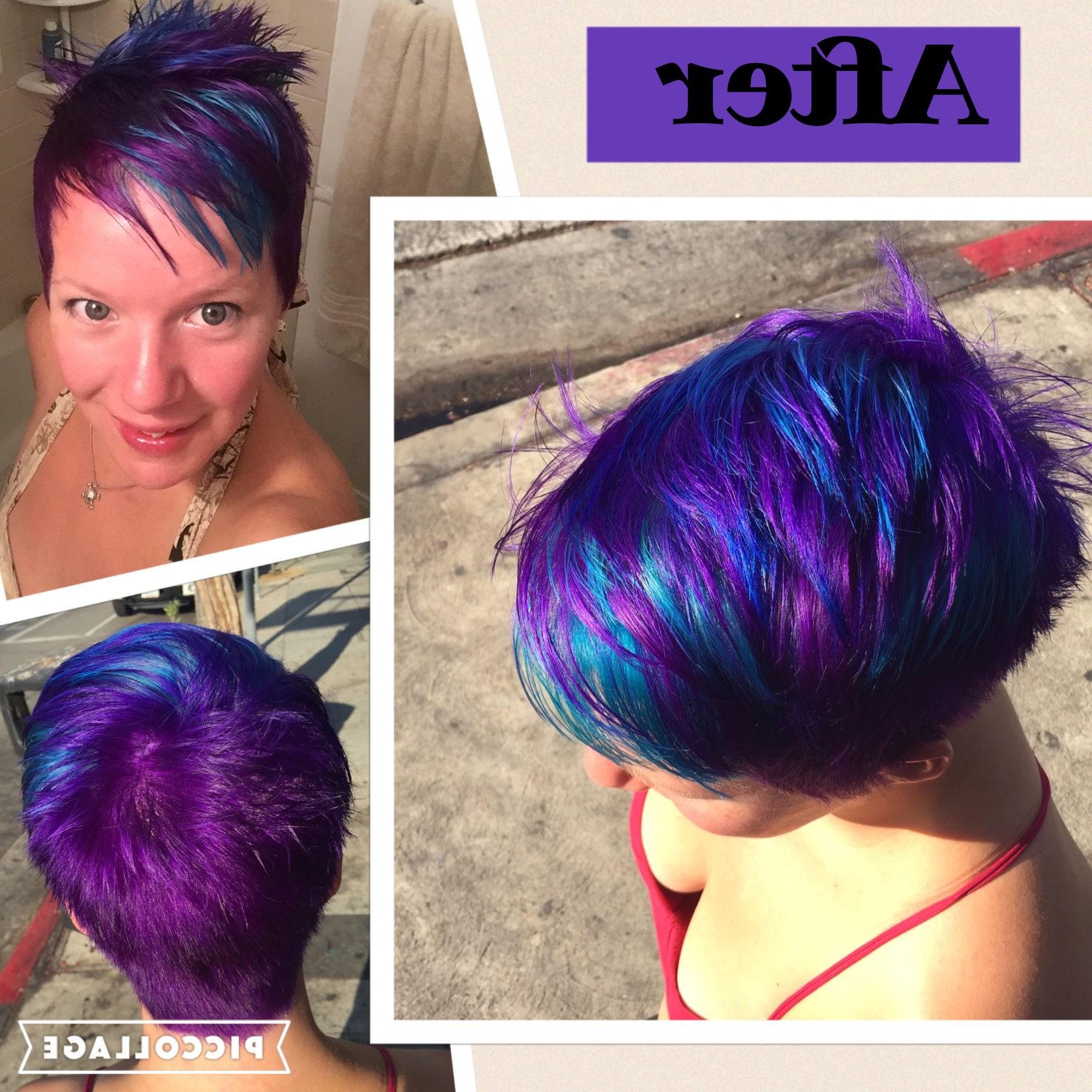 Mermaid Rainbow Hair – Purple, Blue, Teal (View 10 of 20)