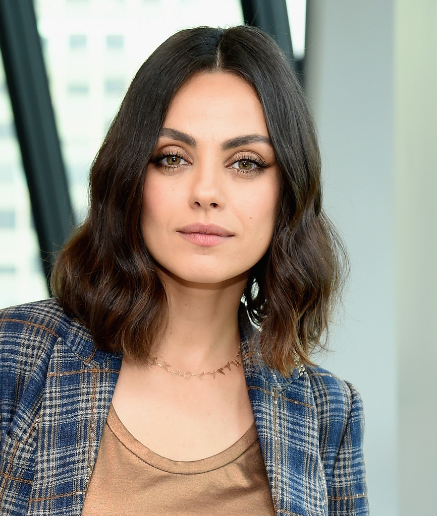 Mila Kunis Medium Wavy Cut – Mila Kunis Shoulder Length Hairstyles For Most Recently Released Mila Kunis Medium Hairstyles (View 11 of 20)