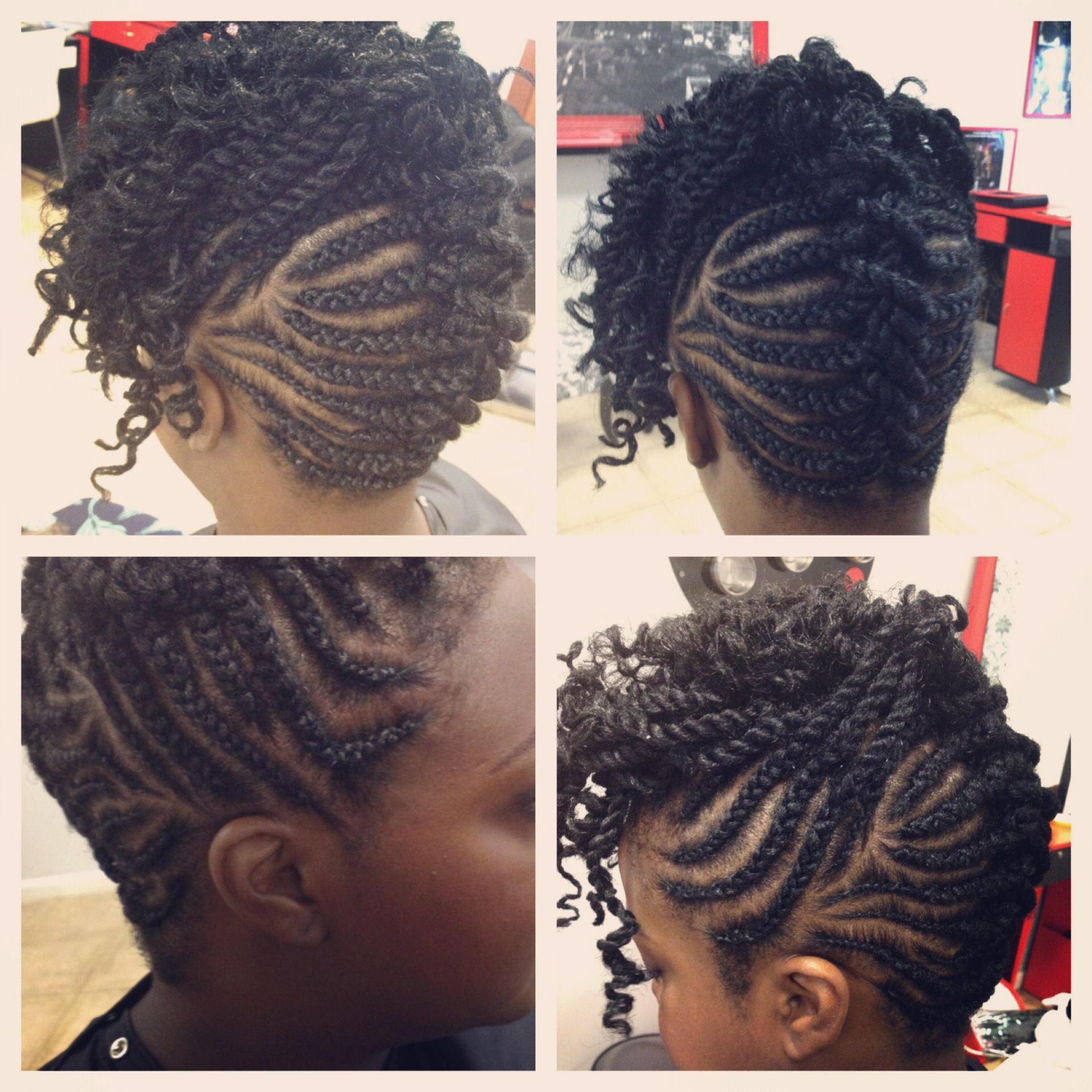 Mohawk Braids With Single Rope Twist Up Front (View 13 of 20)