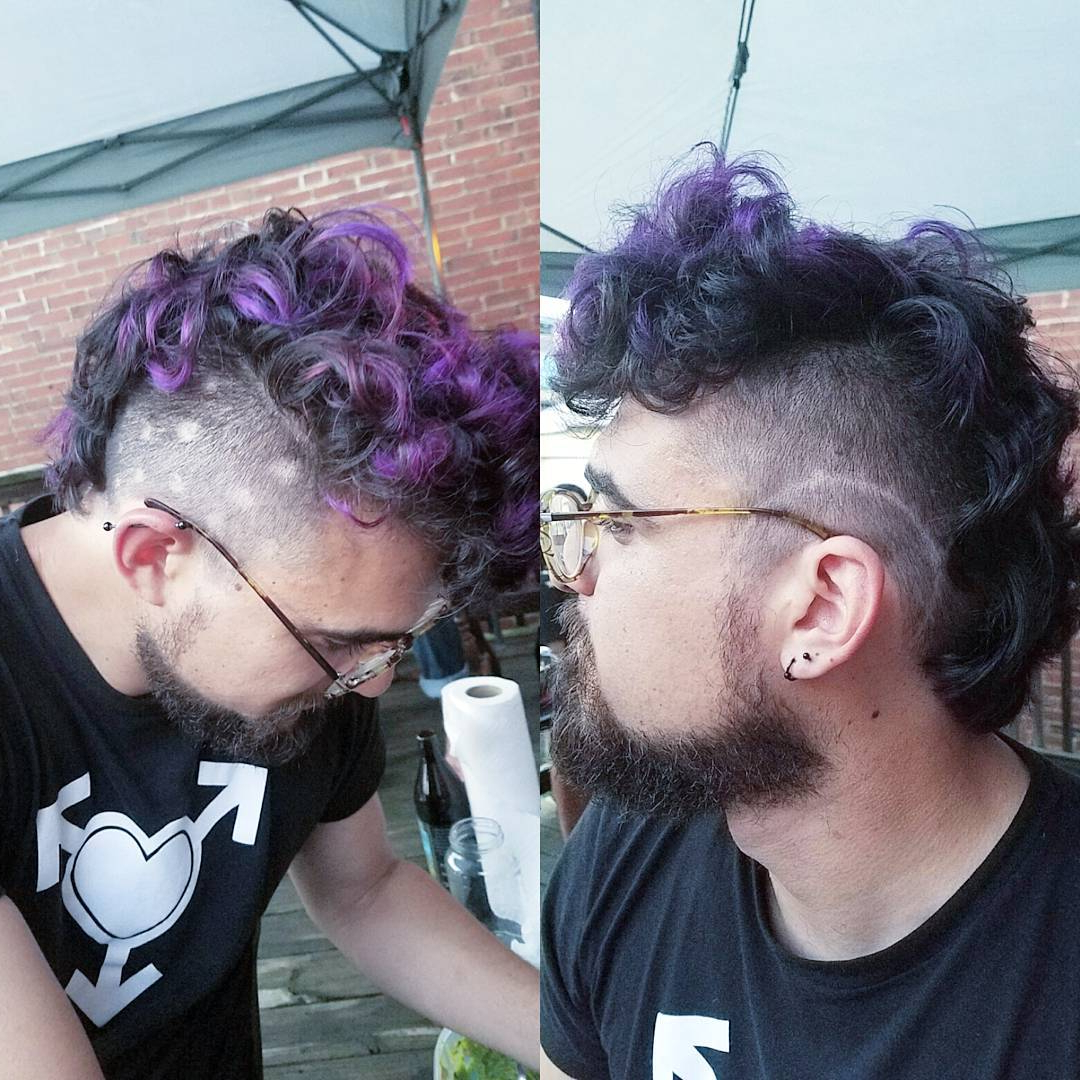 Mohawk Haircut: 15 Curly, Short, Long Mohawk Hairstyles For Men Throughout Famous Pink And Purple Mohawk Hairstyles (View 8 of 20)