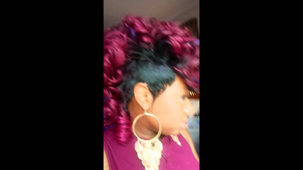 Mohawk Hairstyle Quick Weave – Youtube Within Most Current Pink And Purple Mohawk Hairstyles (View 9 of 20)