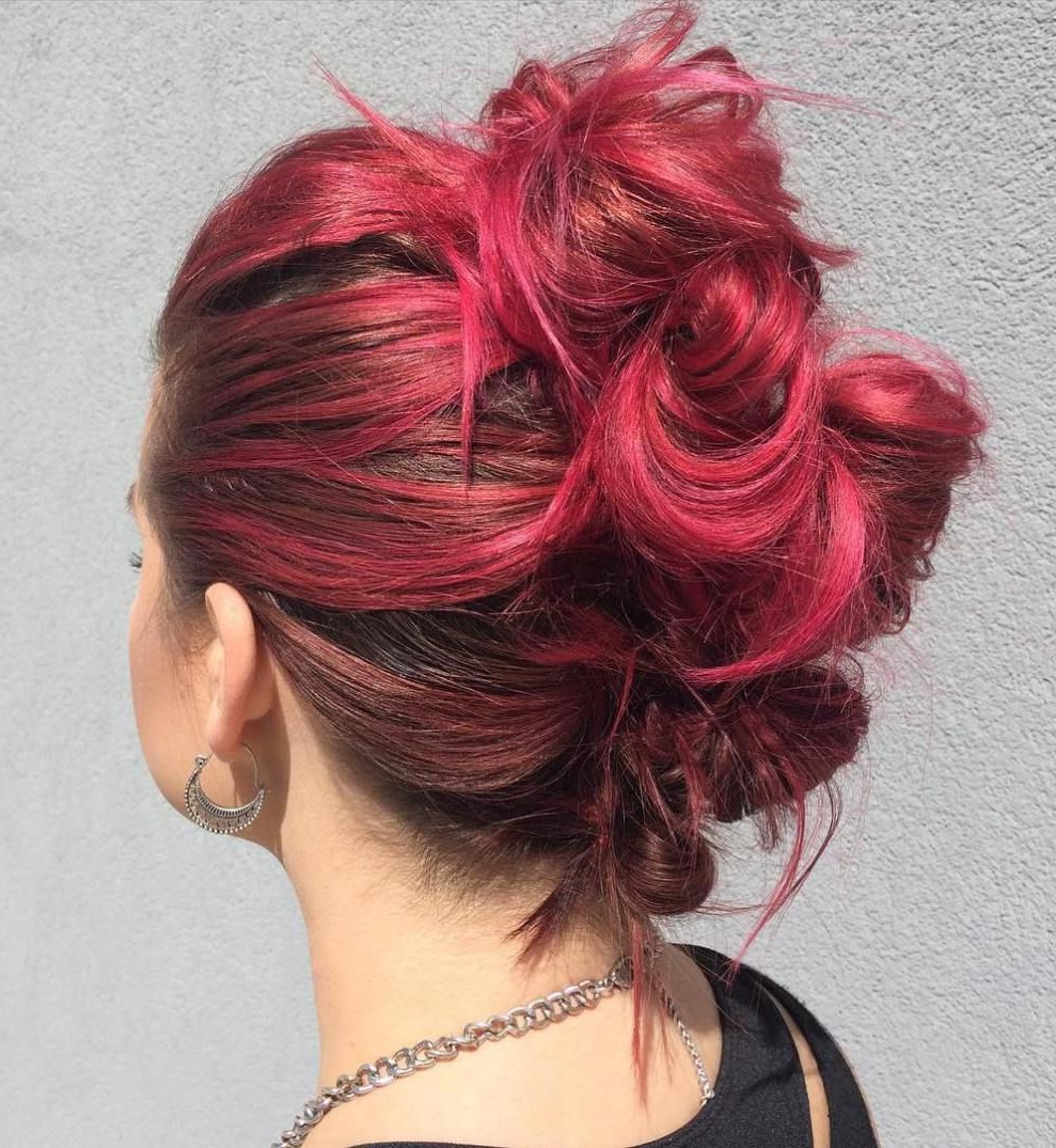 Mohawks, Mohawk For Well Known Vibrant Red Mohawk Updo Hairstyles (View 15 of 20)