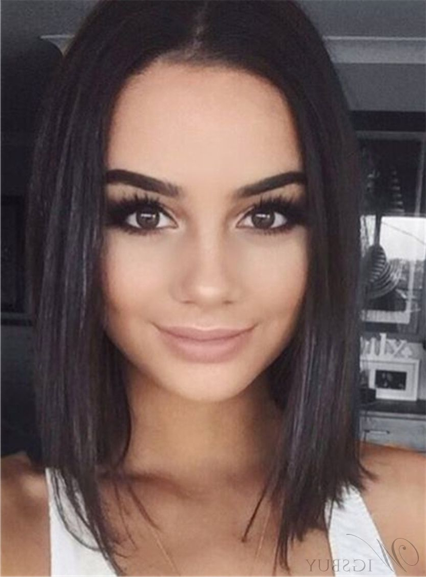 Most Current African Medium Haircuts Pertaining To Straight Bob Hairstyle Shoulder Length Synthetic Lace Front African (View 12 of 20)