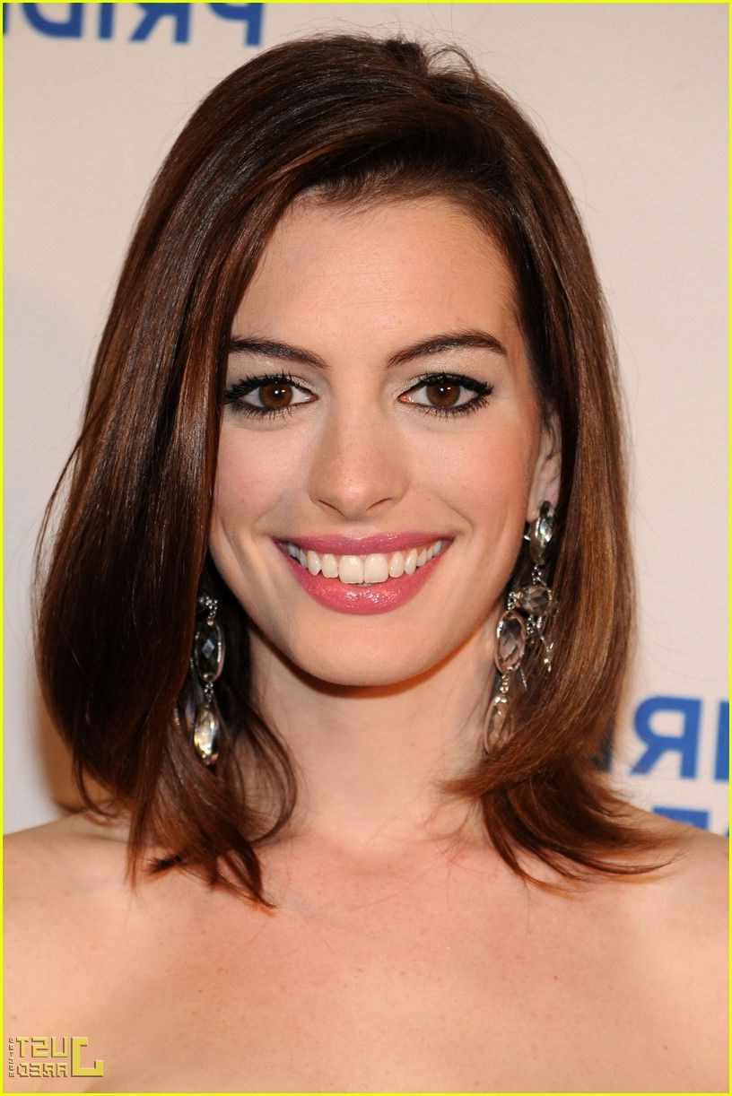 Most Current Anne Hathaway Medium Haircuts Within Anne Hathaway (View 12 of 20)