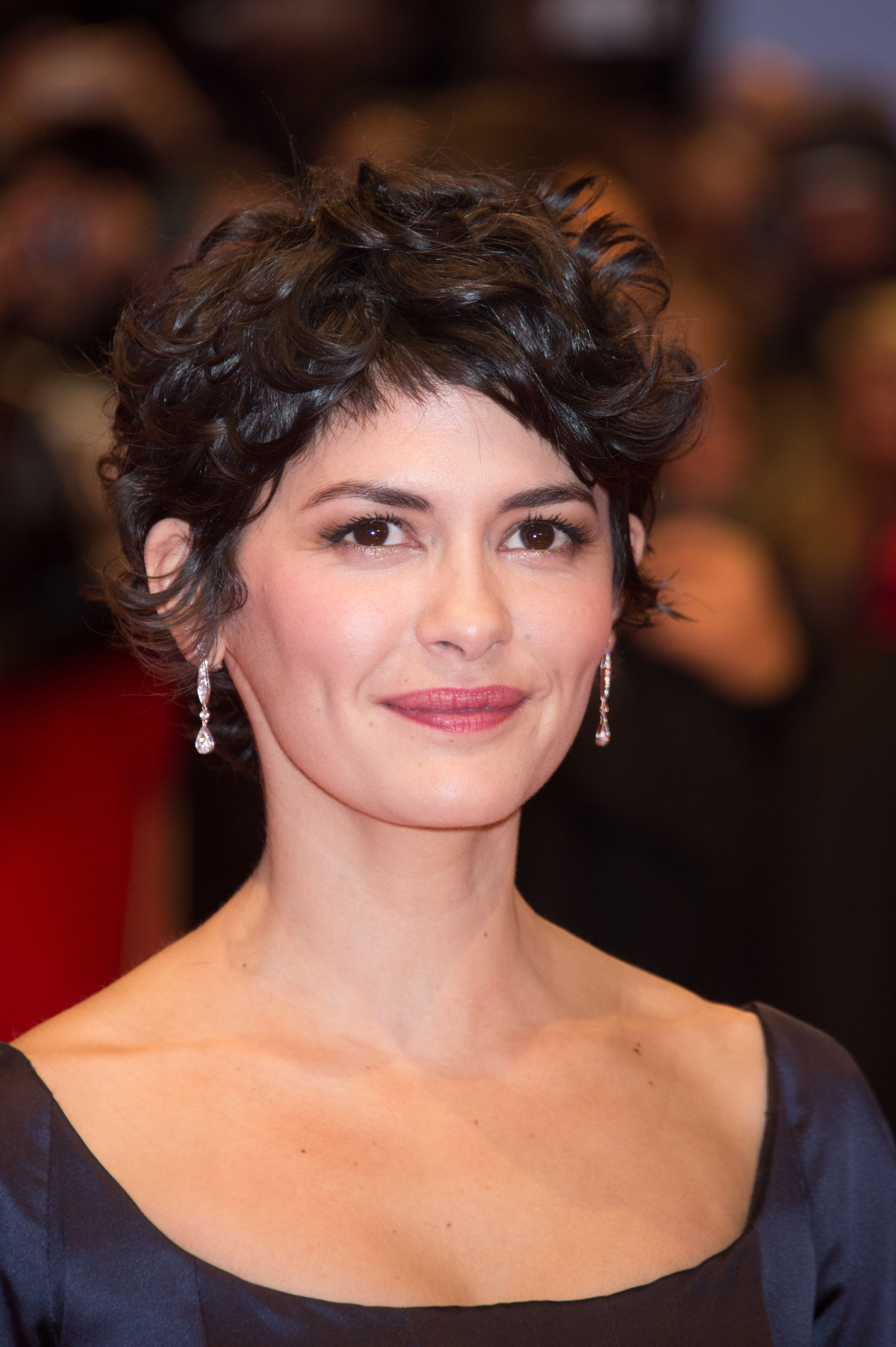 Most Current Audrey Tautou Medium Haircuts Regarding French Actress Audrey Tautou Wearing Josephine Earrings At The 65th (View 9 of 20)