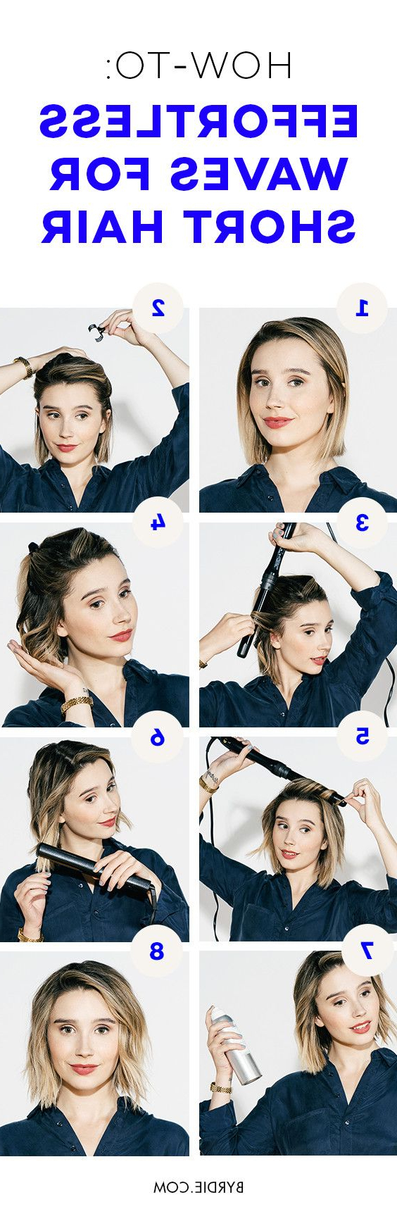Most Current Effortlessly Tousled Hairstyles Inside How To Create Effortless Waves For Short Hair: A Tutorial (View 16 of 20)