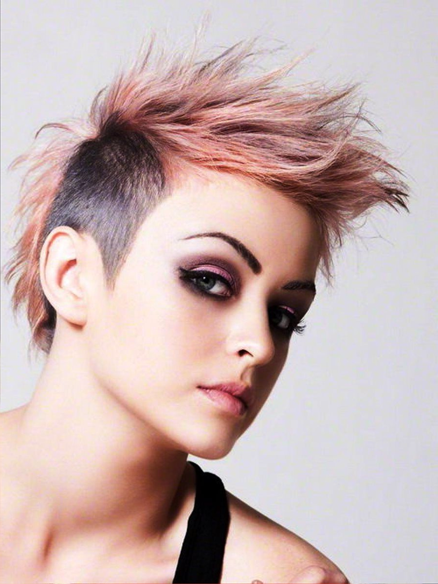 Most Current Funky Pink Mohawk Hairstyles In 40 Funky Hairstyles To Look Beautifully Crazy (View 10 of 20)