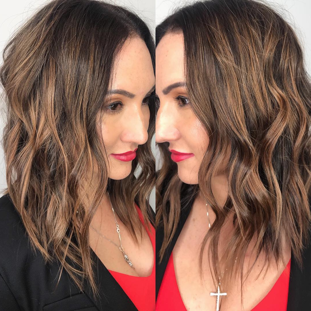 Most Current Medium Hairstyles For Large Noses Within 10 Wavy Haircuts For Medium Length Hair (View 9 of 20)