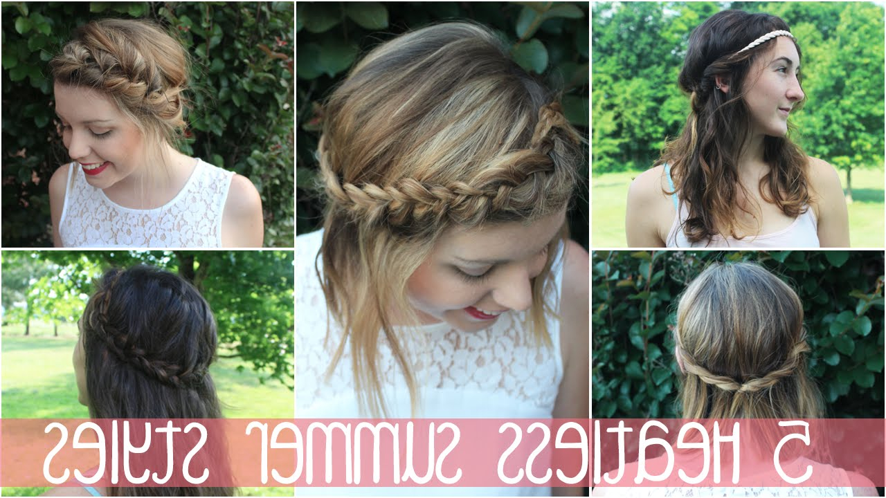 Most Current Medium Hairstyles For Spring Within 5 Heatless Spring/summer Hairstyles (Short/medium/long Hair) – Youtube (View 14 of 20)