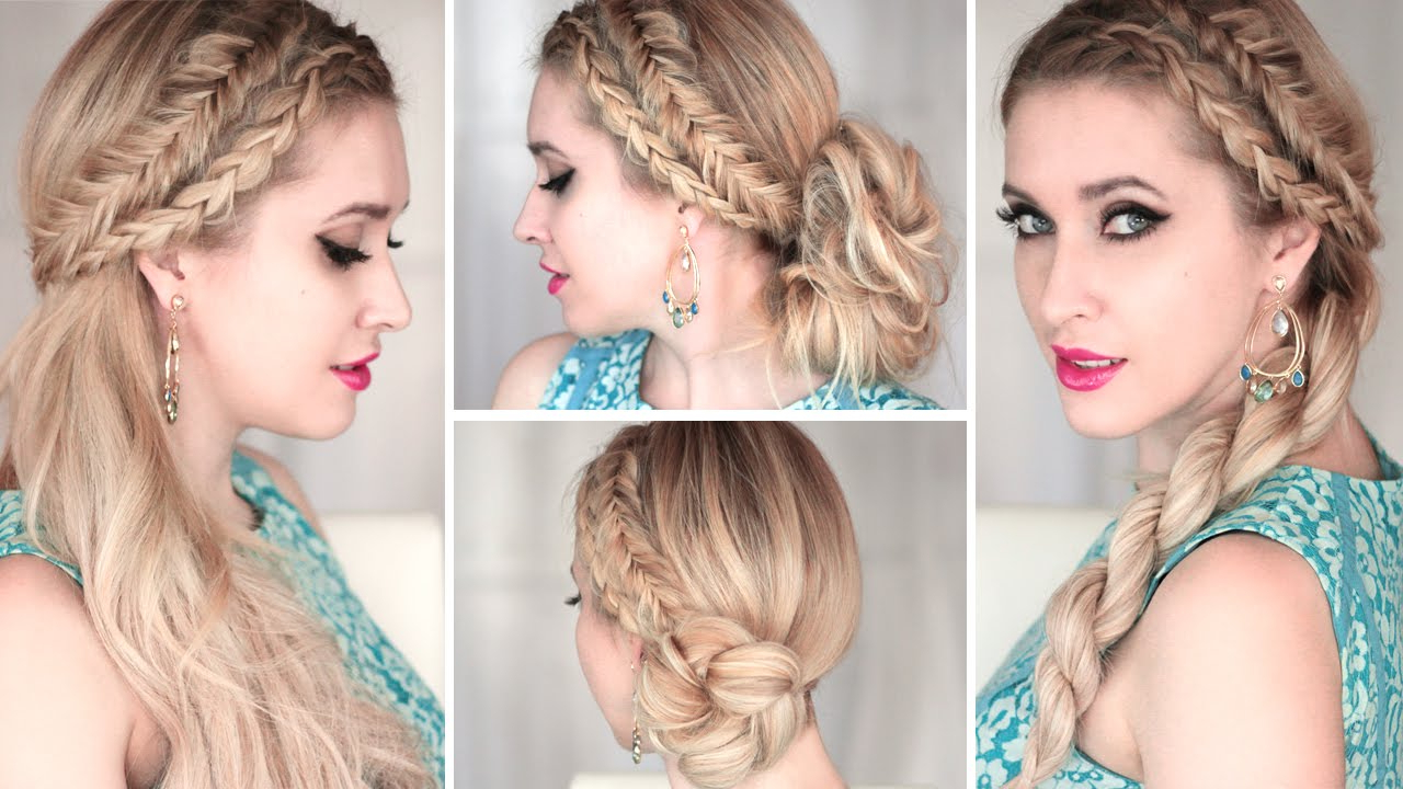 Most Current Summer Medium Hairstyles Pertaining To 4 Cute And Easy Summer Hairstyles With Braids ❤ Everyday, Prom (View 10 of 20)