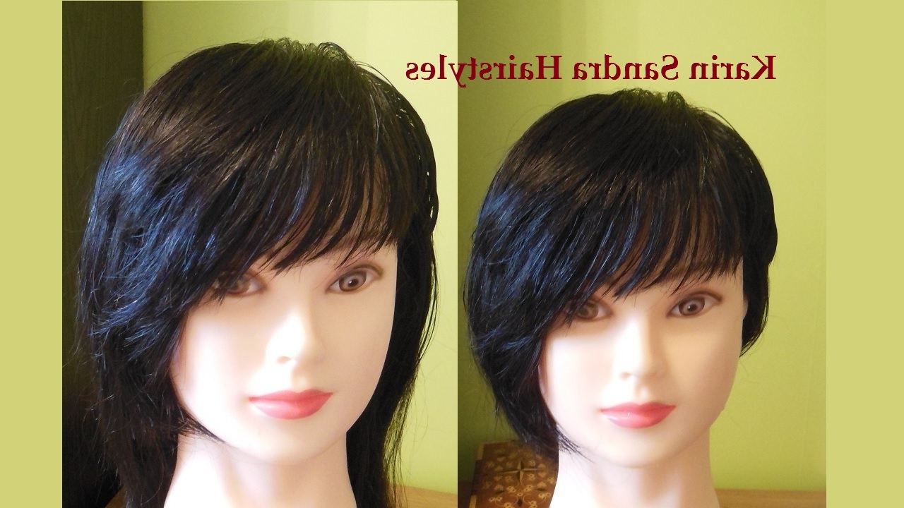 Most Current Symmetrical Medium Haircuts Intended For Bangs Side Swept Haircut Tutorial (View 13 of 20)
