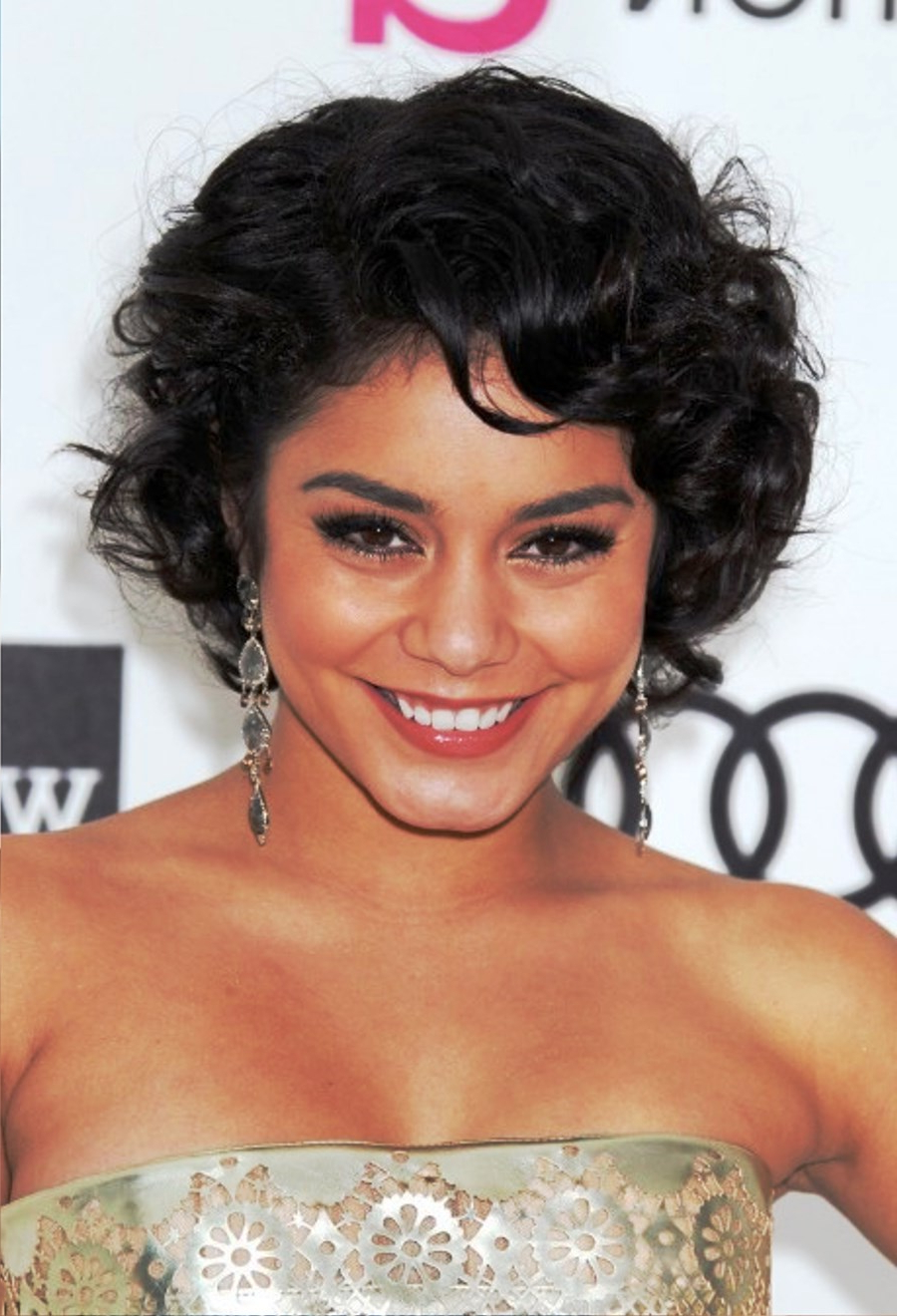 Most Current Vanessa Hudgens Medium Haircuts Intended For Vanessa Hudgens Blakc Curly Bob Haircut Hairstyle Ideas – Be Hairstyles (View 12 of 20)