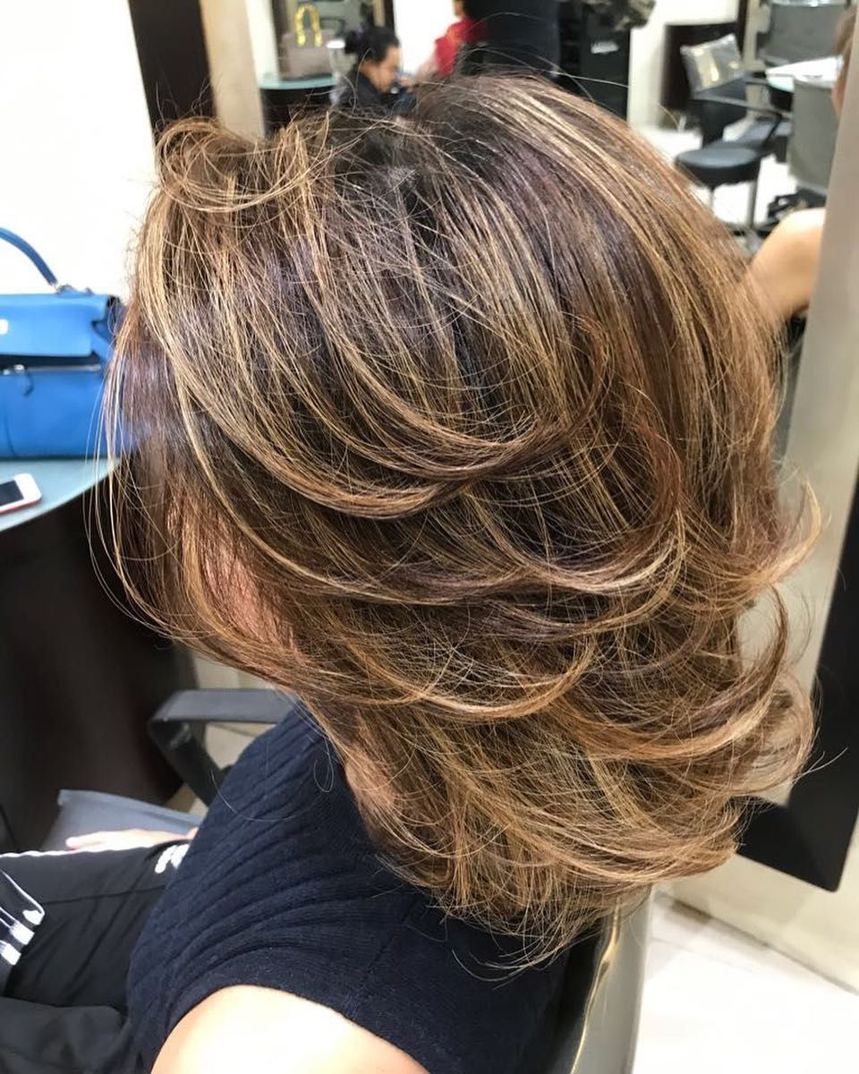Most Popular Bob Haircuts With Symmetrical Swoopy Layers Intended For Layers Gor Medium Lenght#layers#hairstyle#instahair#jakartahairsalon (View 14 of 20)