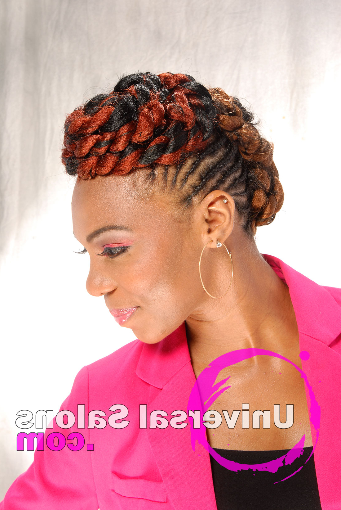 Most Popular Braided Mohawk Hairstyles Inside Fire Goddess Braided Mohawk Hairstyle From Apryl Mcabee (View 12 of 20)