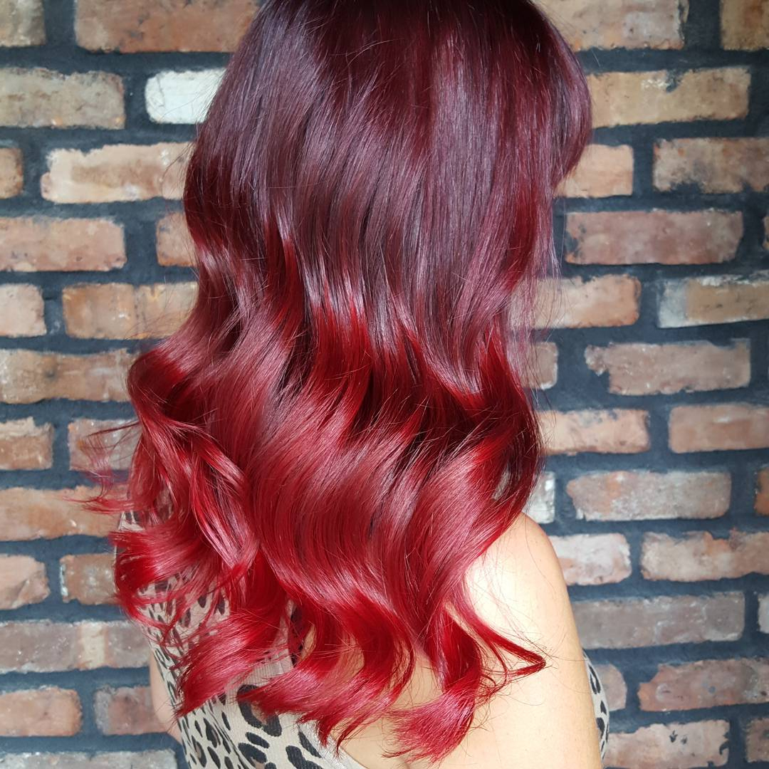 Most Popular Bright Red Medium Hairstyles Throughout 33 Stunning And Mystique Dark Red Hairstyles (View 12 of 20)