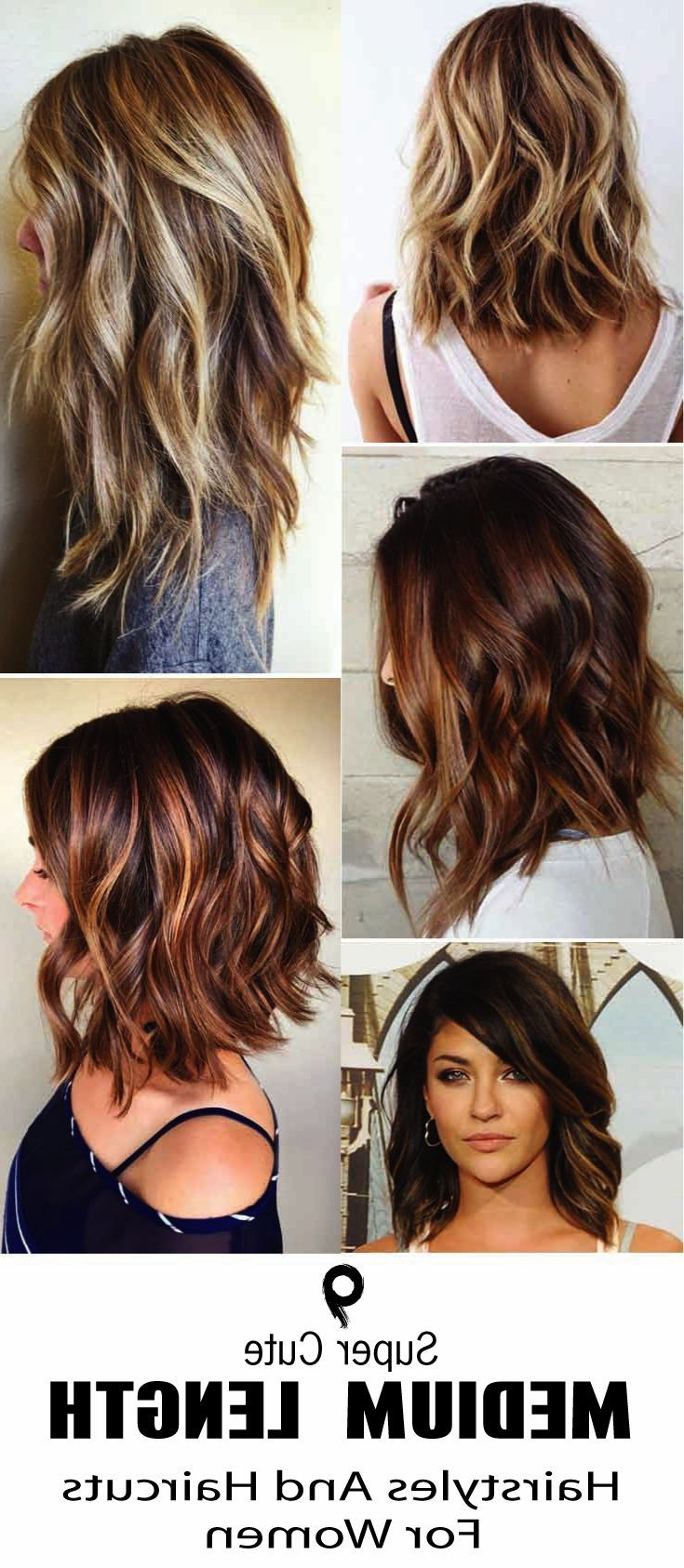 Most Popular Crazy Medium Hairstyles Intended For 9 Super Cute Medium Length Hairstyles And Haircuts For Women (View 11 of 20)