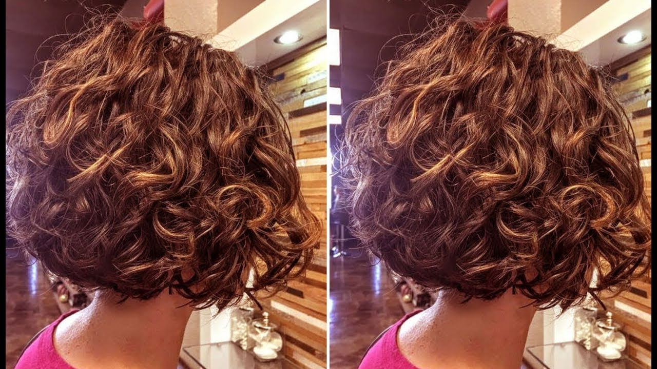 Most Popular Layered Wavy Lob Hairstyles Intended For How To Cut A Curly Bob Haircut – Layered Bob Haircut Tutorial Step (View 11 of 20)