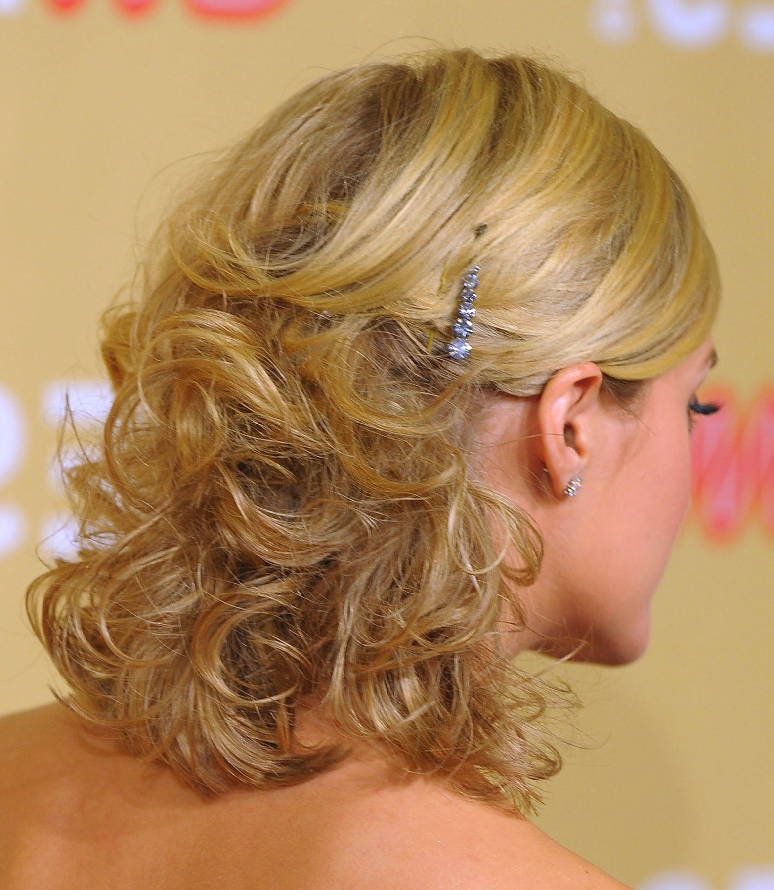 Most Popular Medium Haircuts For Prom With Classy Pinned Back Hairstyles For Prom In (View 9 of 20)