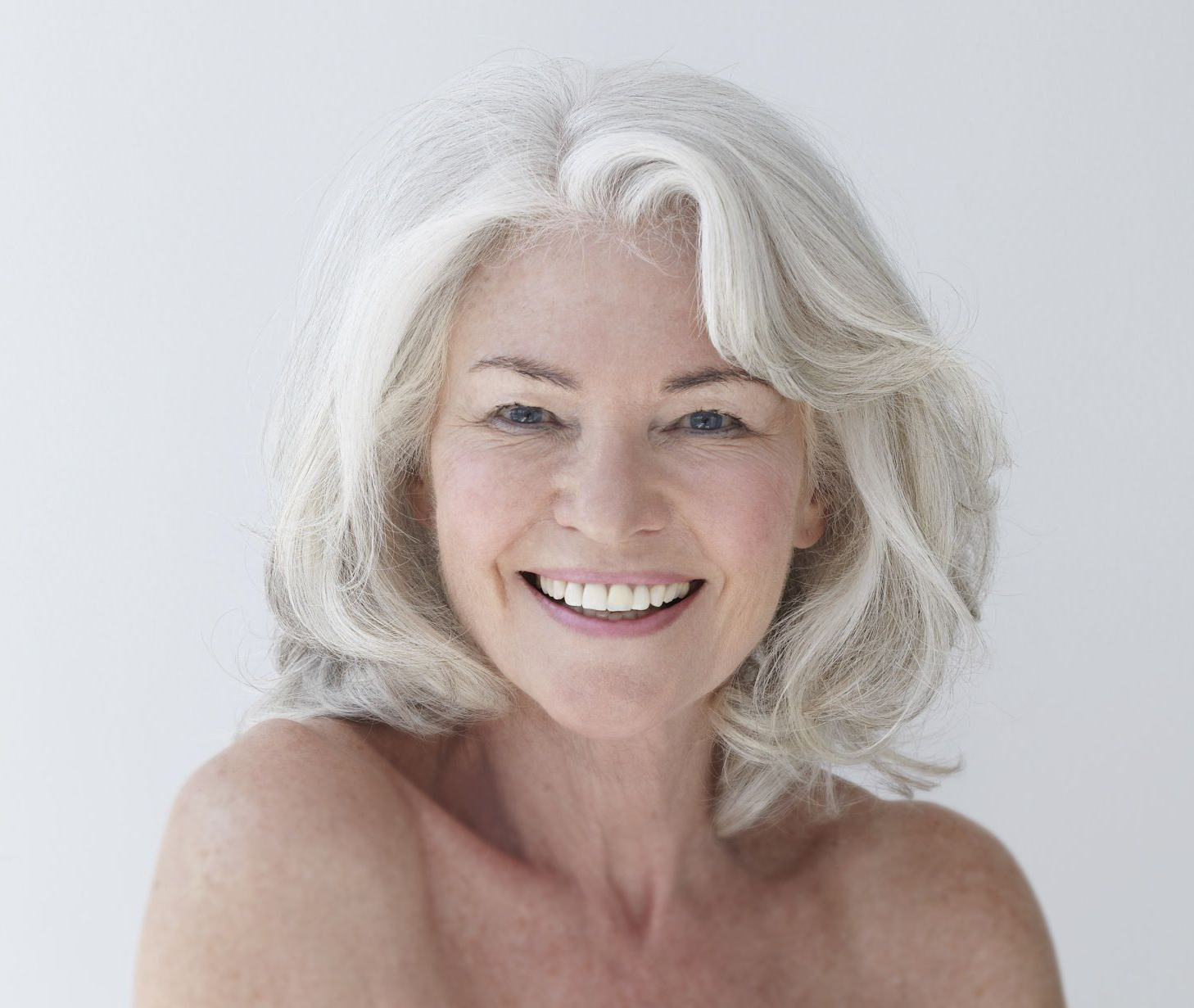 Most Popular Medium Haircuts For Salt And Pepper Hair Within Chin Length Hairstyles For Grey Hair Feathered Hairstyles For Medium (View 16 of 20)