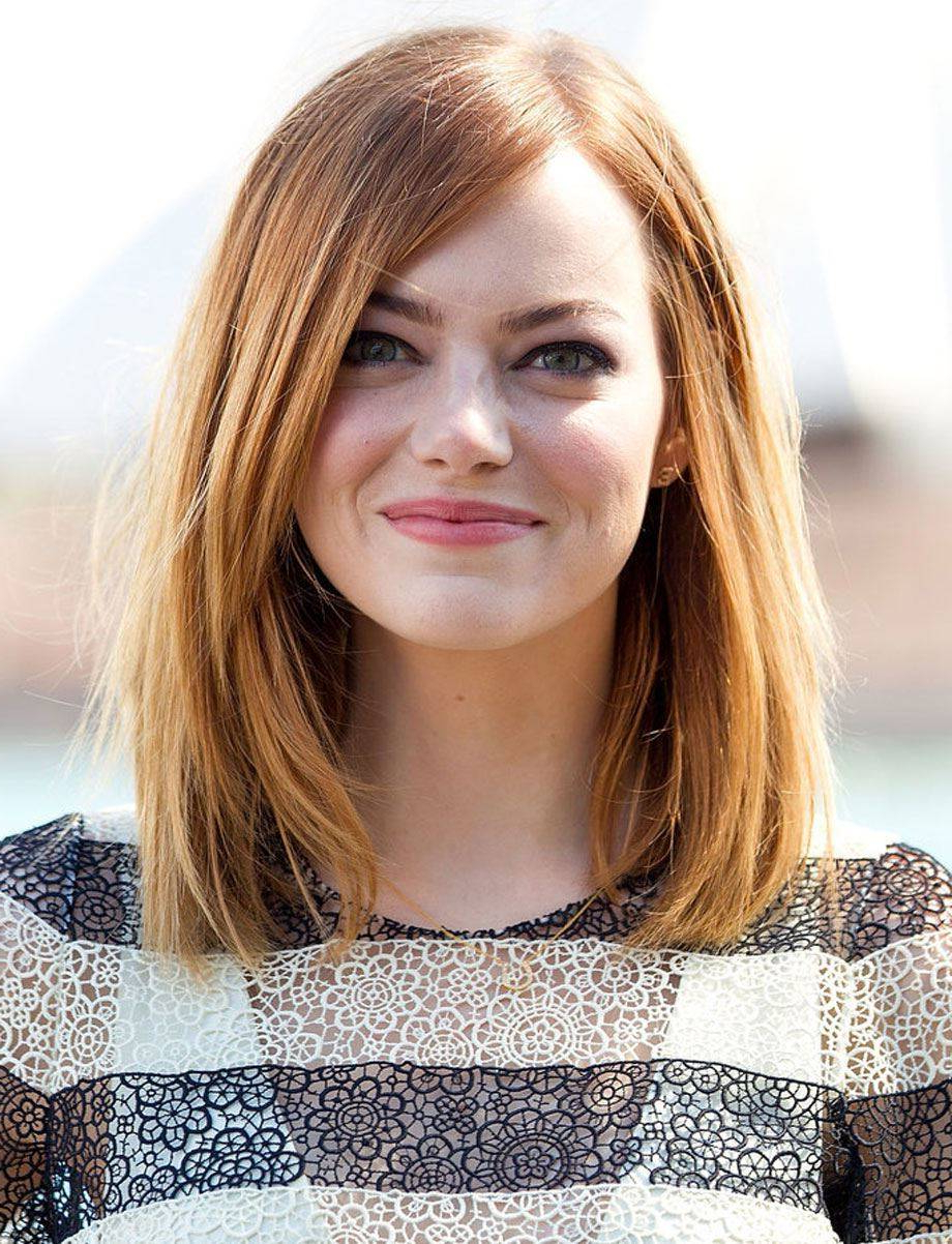 Most Popular Medium Haircuts For Women With Round Faces With Hair Cuts : Haircuts For Round Faces Women Medium Length And Fine (View 15 of 20)