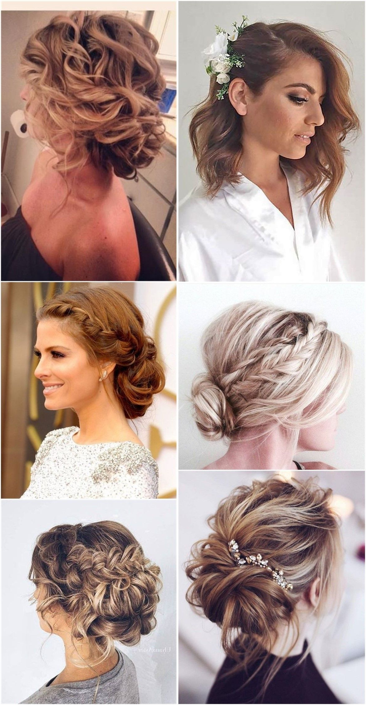 Most Popular Medium Hairstyles Bridesmaids Pertaining To Wedding Hairstyle : Wedding Hairstyles For Long Hair Half Up With (View 10 of 20)