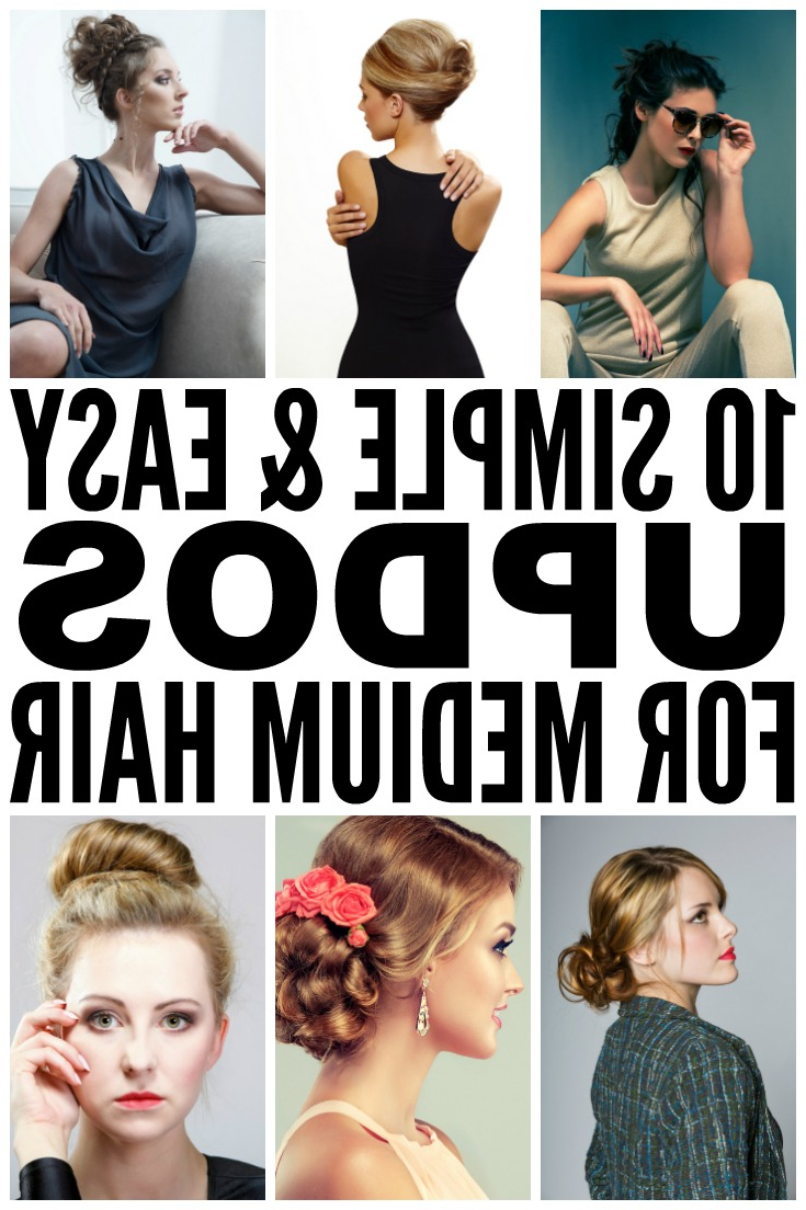 Most Popular Medium Hairstyles Formal Occasions Within 10 Easy (& Glamorous!) Updos For Medium Length Hair (View 18 of 20)