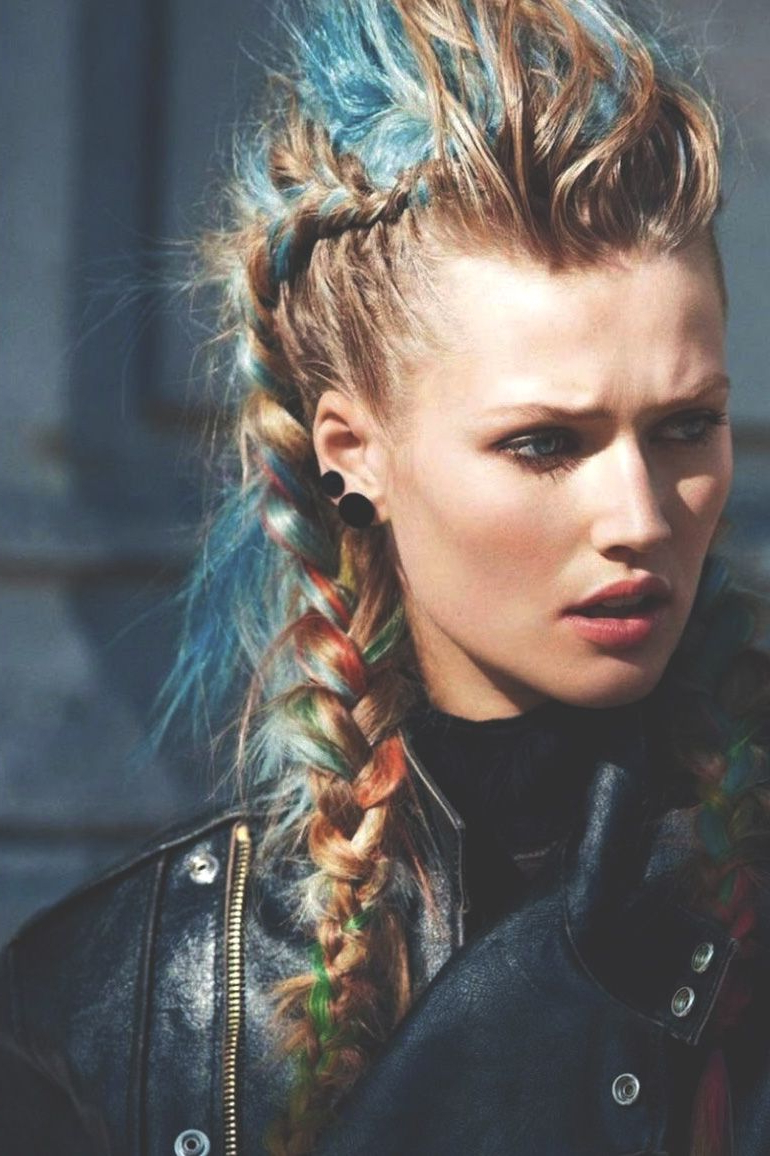 Most Popular Mini Braided Babe Mohawk Hairstyles Within 100 Pastel Colored Hair Looks (View 13 of 20)