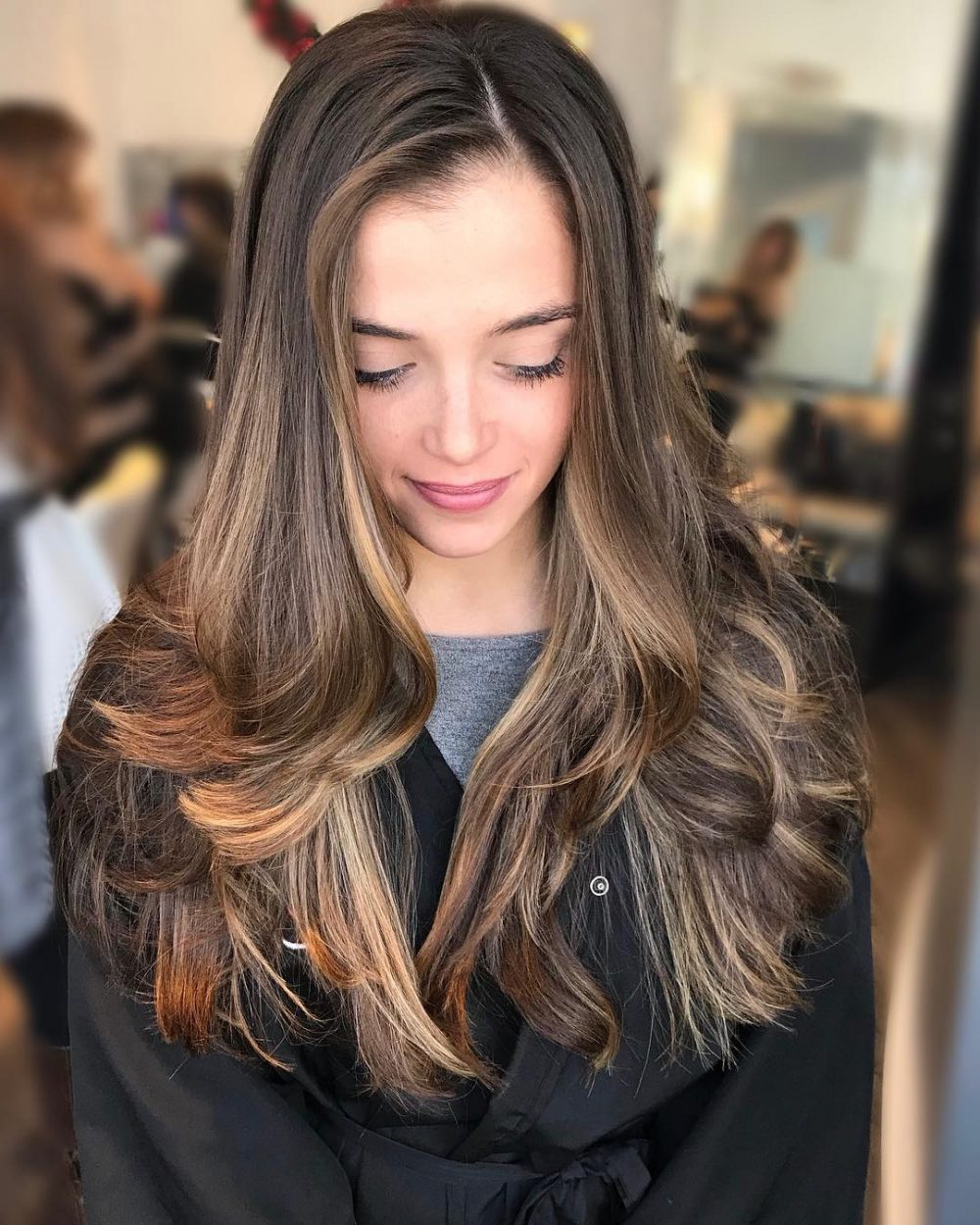 Most Popular Straight, Sleek, And Layered Hairstyles For Medium Hair For 29 Prettiest Hairstyles For Long Straight Hair In  (View 13 of 20)