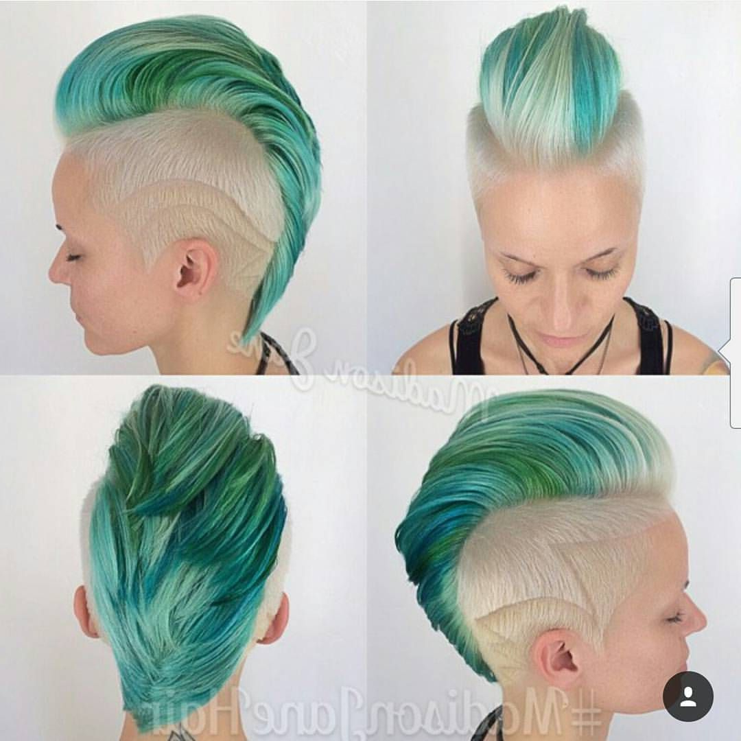 Most Popular Work Of Art Mohawk Hairstyles Inside Mymymadisonjane @mymymadisonjane Dreamy Sea Mohawk (View 10 of 20)