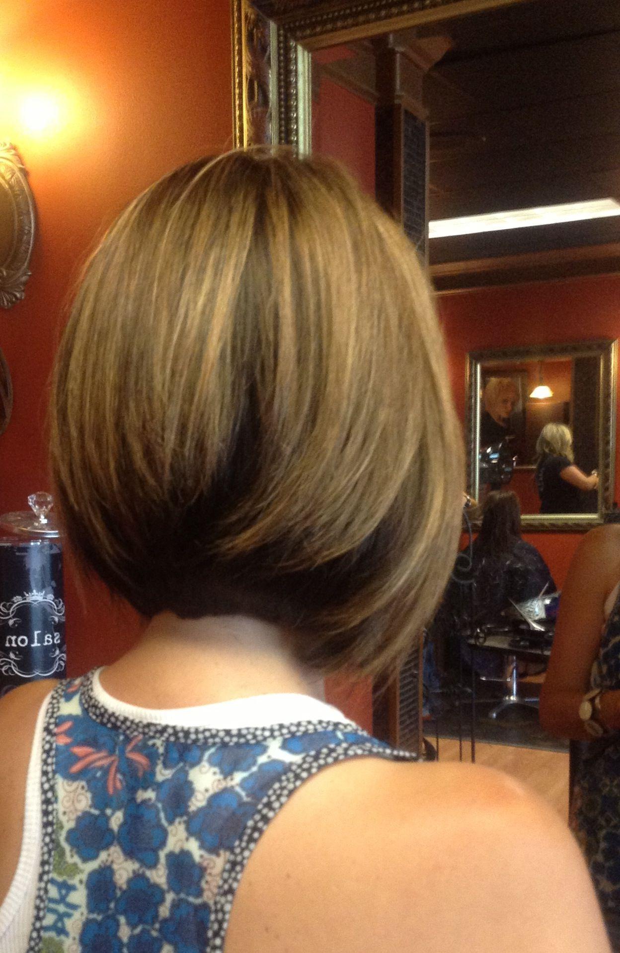 Most Recent Inverted Bob Medium Haircuts Regarding Medium Length Inverted Bob With Long Layers. Razor Cut. (View 3 of 20)