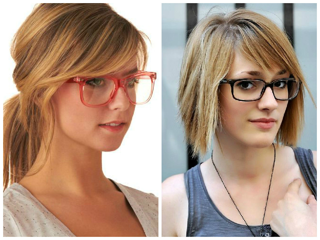 Most Recent Medium Haircuts For Girls With Glasses In Bangs And Glasses Hairstyle Ideas – Hair World Magazine (View 14 of 20)