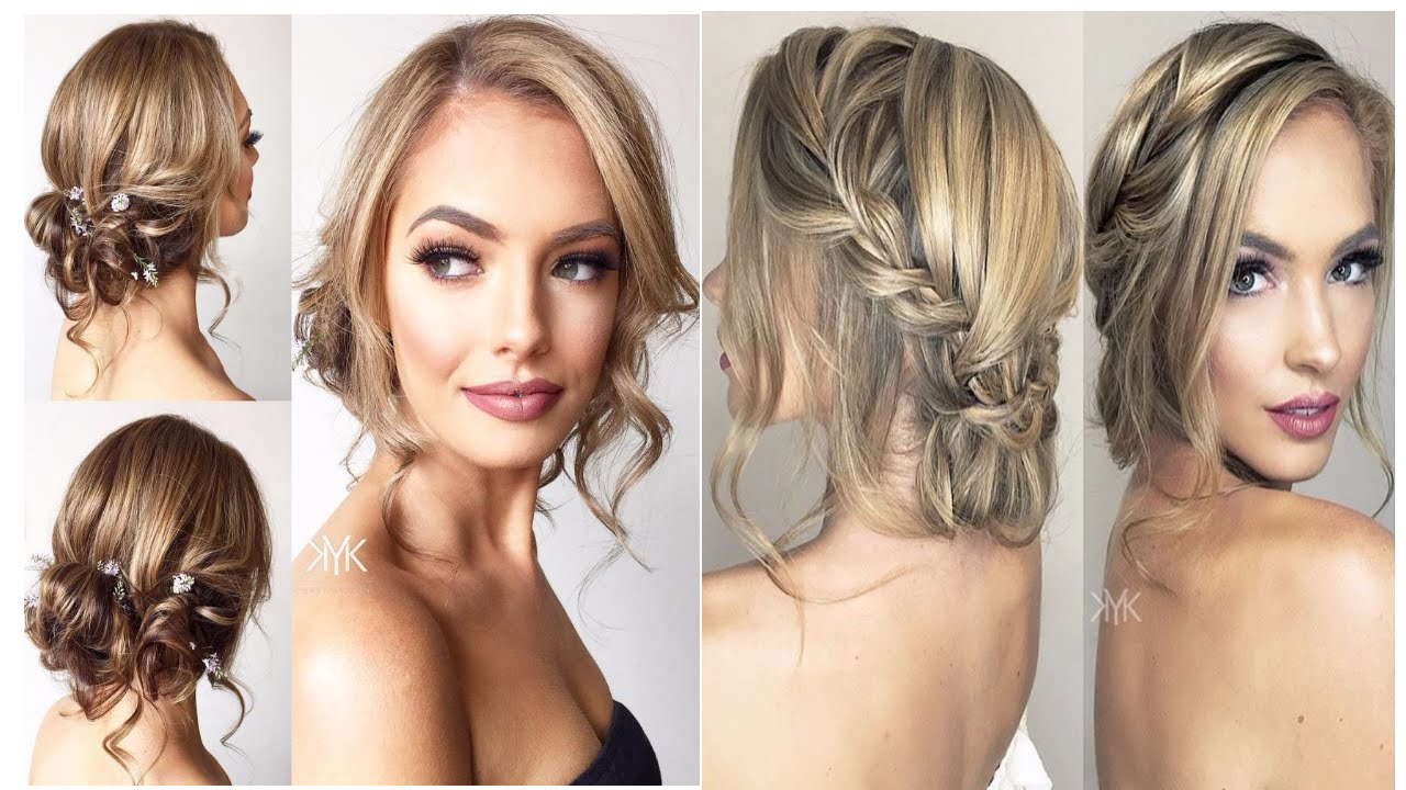 Most Recent Medium Hairstyles For A Ball With Regard To Romantic Wedding Prom Hairstyle For Long Hair Medium Hair New Year (View 7 of 20)