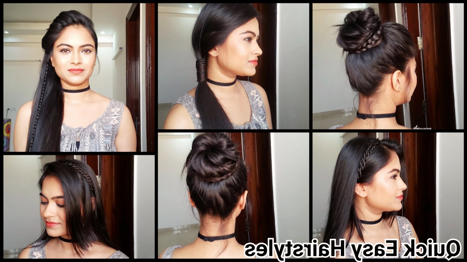 Most Recent Medium Hairstyles For Work With Everyday Quick Easy Hairstyles// Indian Hairstyles For Medium/long (View 18 of 20)