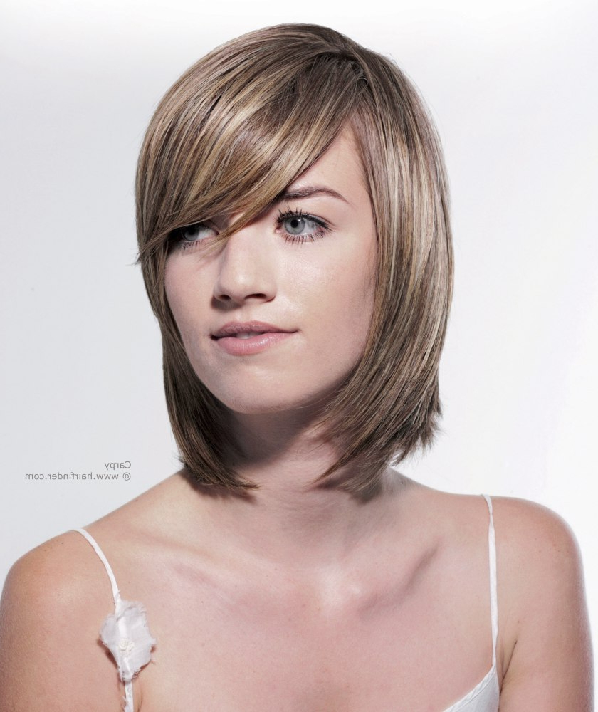 Most Recent Medium Hairstyles With Swoop Bangs Throughout Will Swoop Bangs, Sweep Bangs, Swoopy Bangs Or A Swoop Fringe Look (View 3 of 20)
