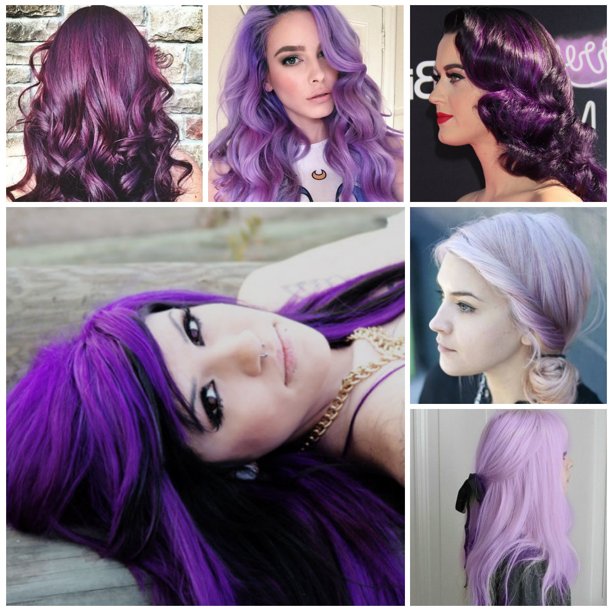 Most Recent Purple Medium Hairstyles In Ravishing Purple Hair Colors For  (View 15 of 20)