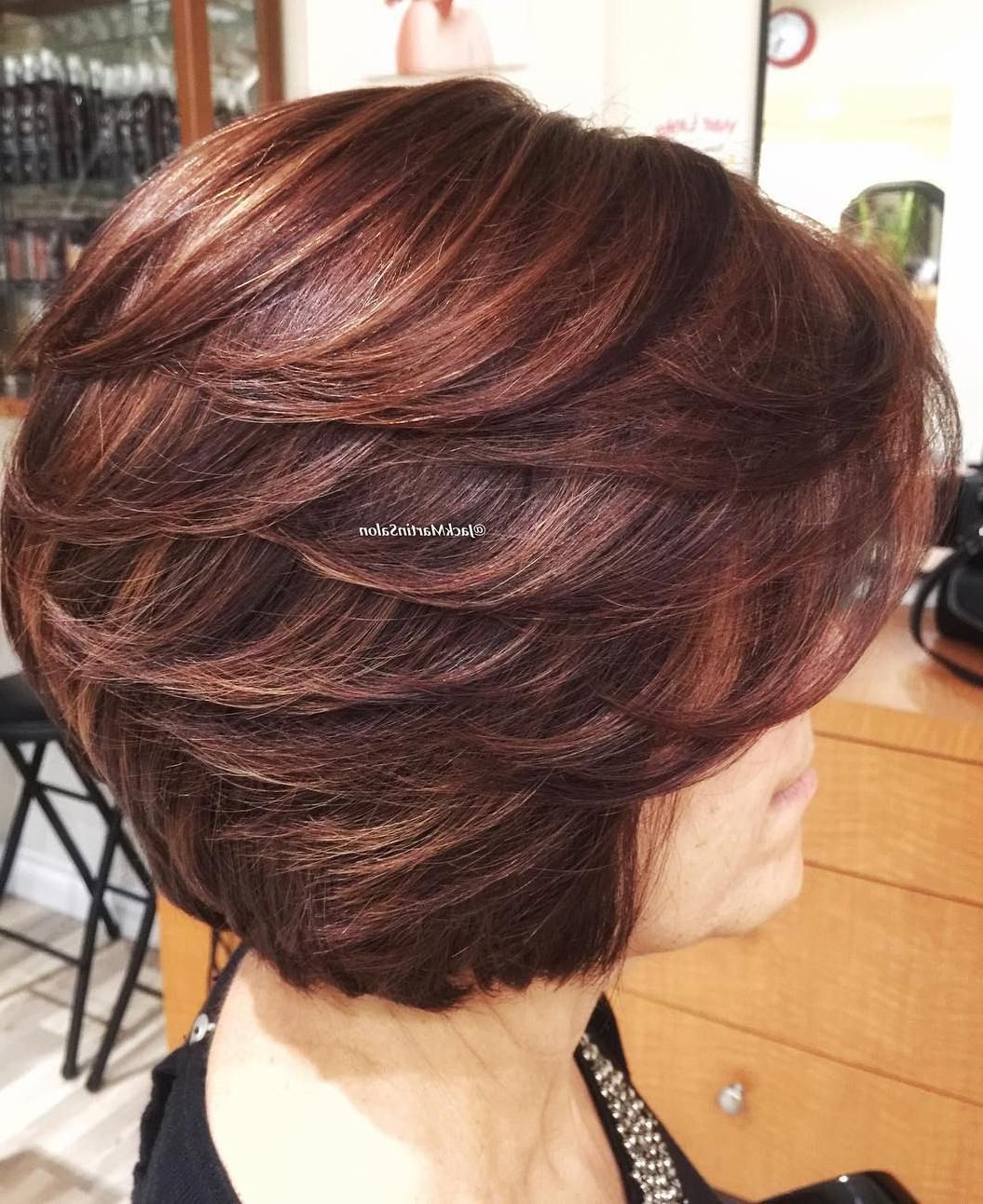 Most Recently Released Bob Haircuts With Symmetrical Swoopy Layers Throughout 80 Best Modern Haircuts And Hairstyles For Women Over (View 18 of 20)