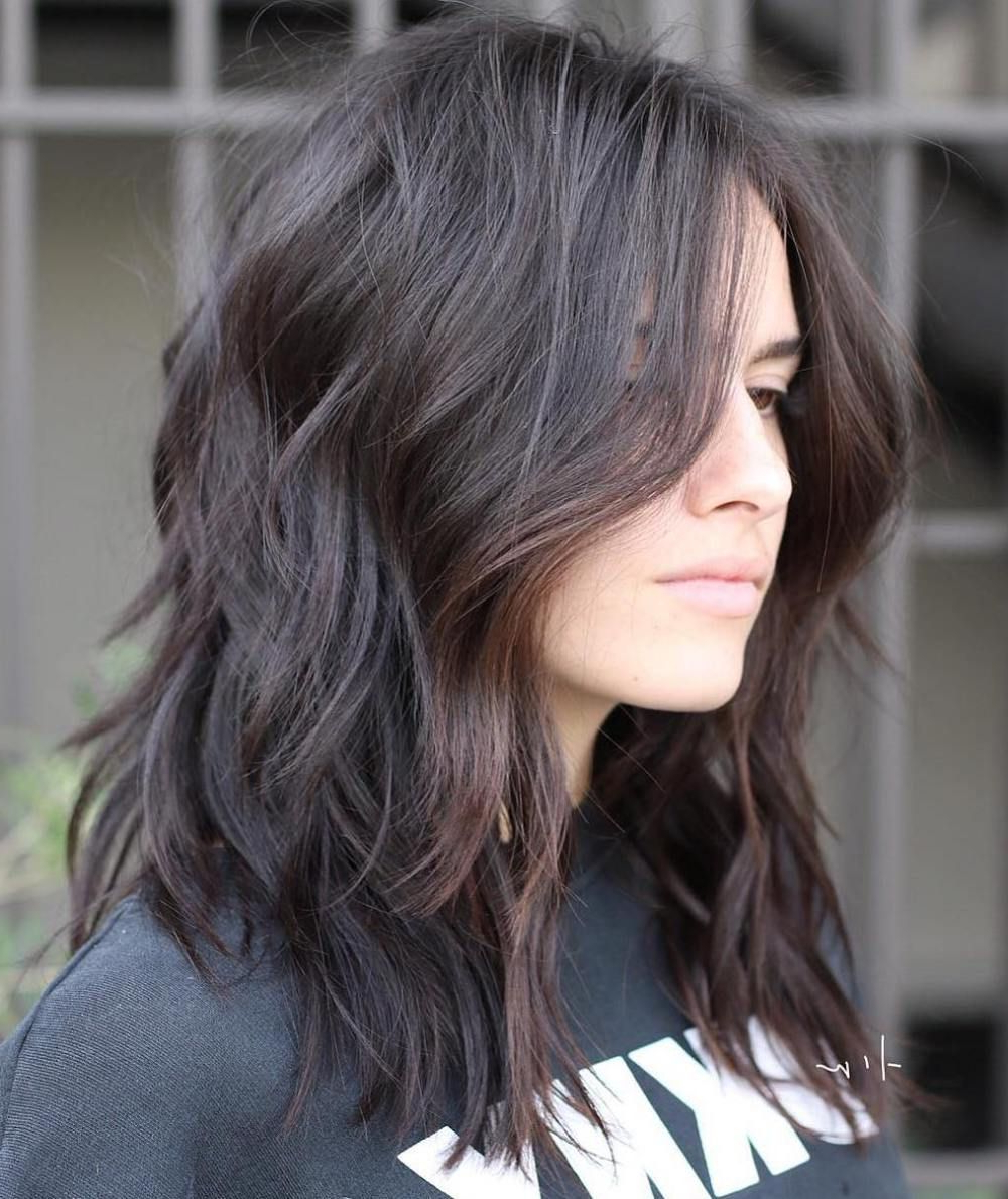 Most Recently Released Brunette Messy Shag Hairstyles Pertaining To 70 Brightest Medium Layered Haircuts To Light You Up (View 6 of 20)