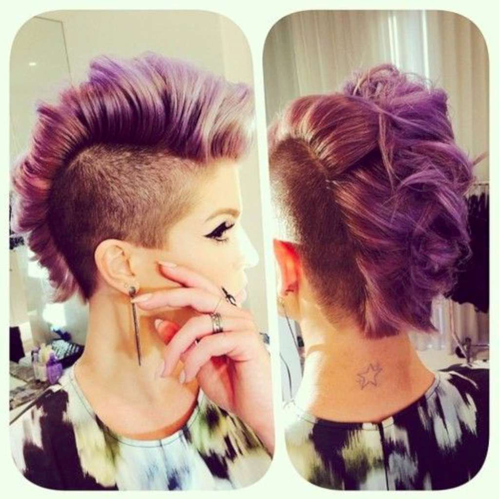 Most Recently Released Extravagant Purple Mohawk Hairstyles Regarding Short Hairstyles For Women 2016 –  (View 14 of 20)