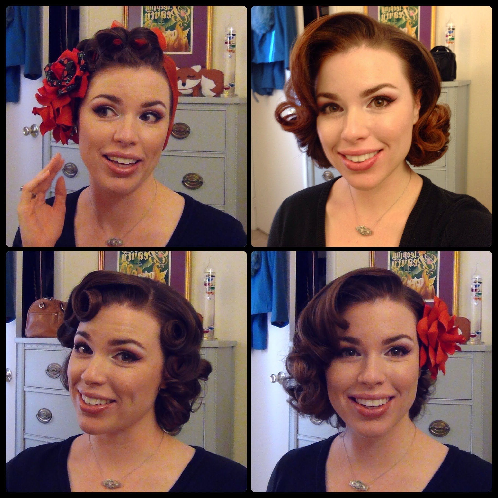 Most Recently Released Fifties Medium Hairstyles Intended For Easy 50's Pin Curl Styles For Shoulder Length Hair (View 16 of 20)